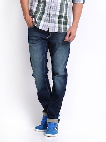 Flying Machine Men Blue Prince Slim Fit Jeans at myntra