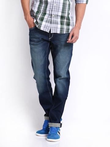 Flying Machine Men Blue Prince Slim Fit Jeans at myntra