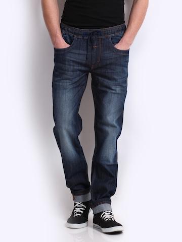Flying Machine Men Blue Snoop Slim Fit Jeans at myntra