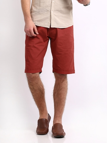 Flying Machine Men Red Shorts at myntra