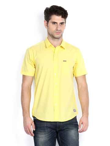 Flying Machine Men Yellow Casual Shirt at myntra