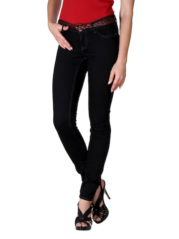 Flying Machine Women Black Jeggings