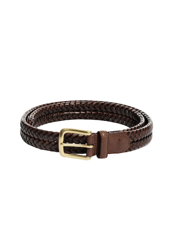 buy fossil brown belt 360 accessories for 80303