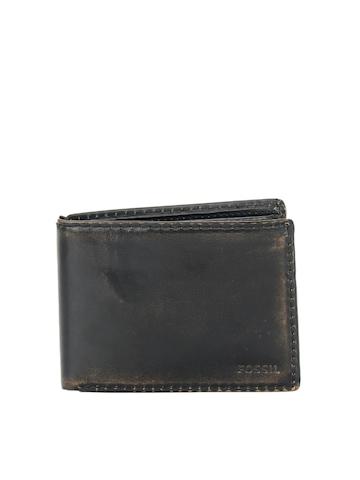 Fossil Men Faded Black Wallet