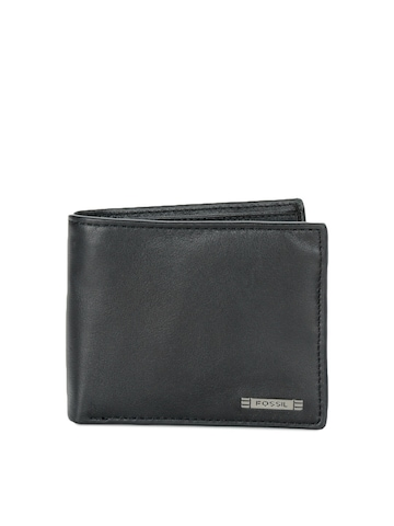 Fossil Men Black Wallet