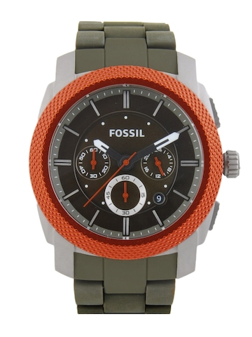 Fossil Men Olive Green Dial Chronograph Watch FS4660