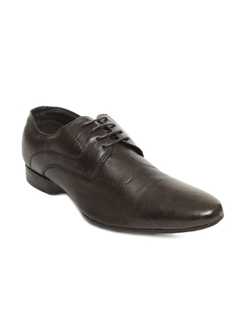 Franco Leone Men Dark Brown Formal Shoes