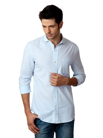 French Connection Men Light Blue Shirt