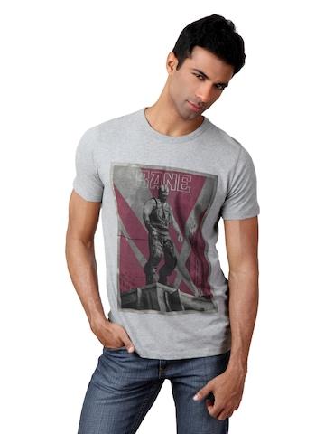 French Connection Men Grey Melange T-shirt