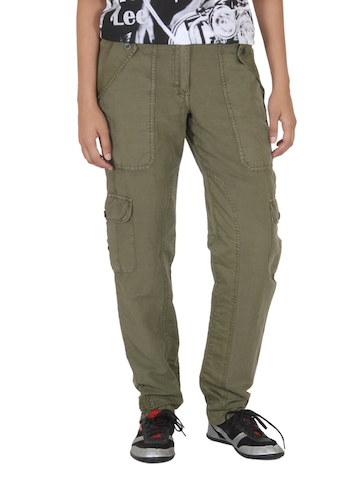 French Connection Women Olive Trousers