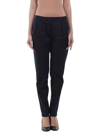 French Connection Women Navy Trouser