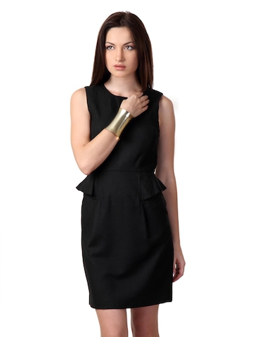 French Connection Women Black Dress