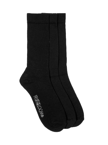 Fruit of the Loom Men Black Pack of Three Socks
