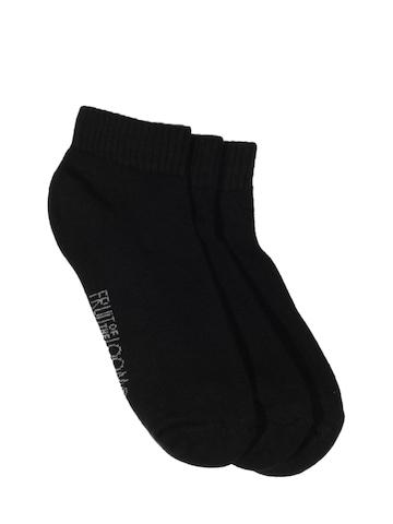 Fruit of the Loom Women Black Pack of Three Socks