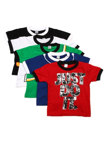 GKIDZ Boys Pack of 5 Printed T-shirts at myntra