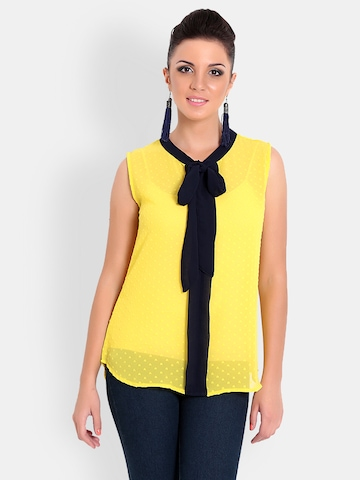 Gipsy Women Yellow Top at myntra