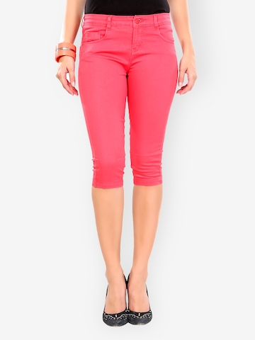 Glam And Luxe Women Pink Slim Fit Capris