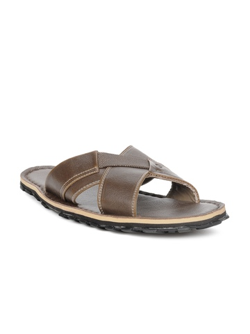 Gliders Men Brown Sandals