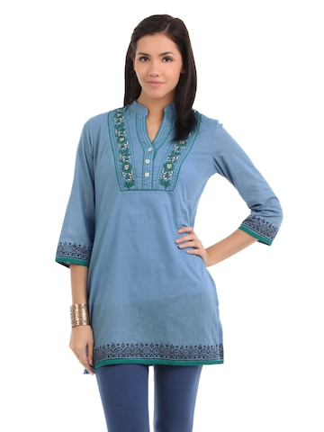Global Desi Women Blue Tunic