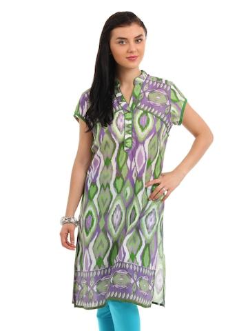 Global Desi Women Green Kurta