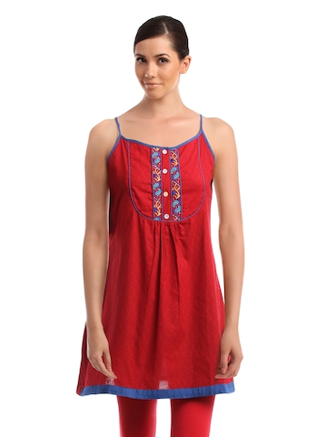 Global Desi Women Red Tunic