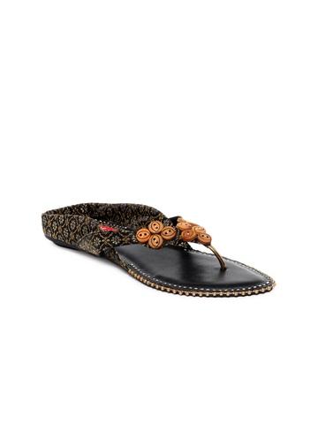HM Women Black Sandals