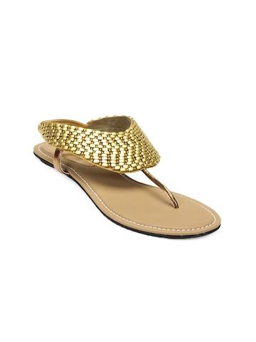 HM Women Golden Sandals