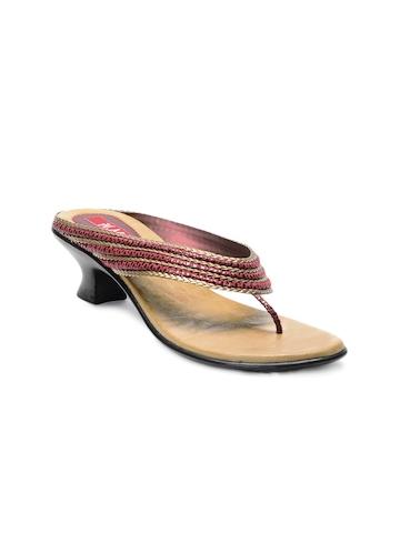 HM Women Maroon Sandals