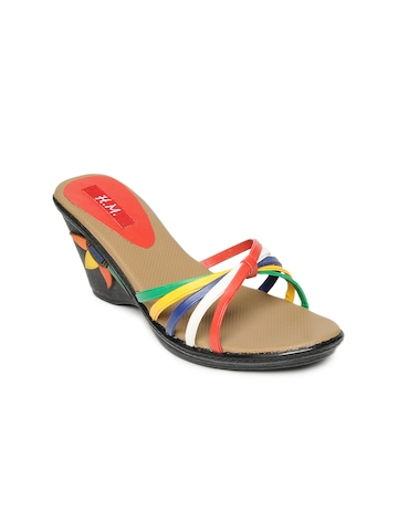HM Women Multi-Coloured Wedges