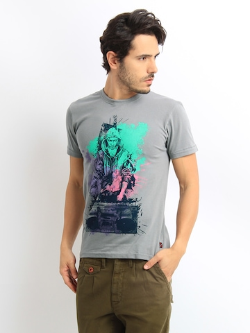 HRX Men Grey Printed T-shirt