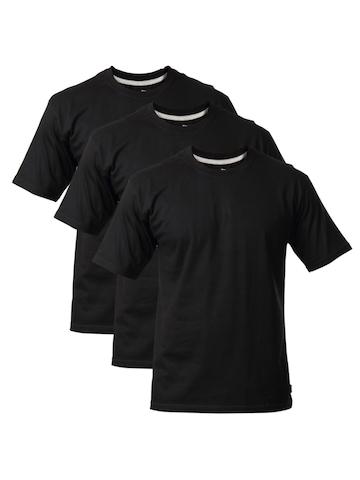 Hanes Men Pack of 3 Black Premium 100% Cotton Crew T-shirts