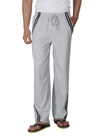 Hanes Men Grey Contrast piping Lounge Pants