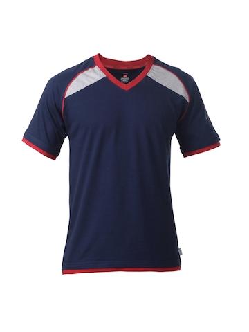 Hanes Men Navy Blue T-shirt