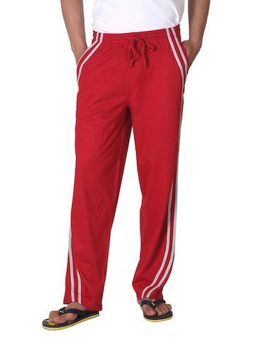 Hanes Men Red Contrast piping Lounge Pants