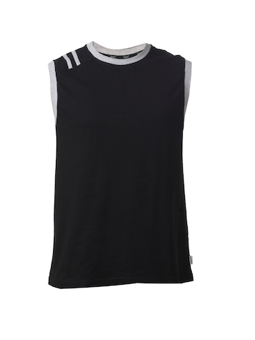 Hanes Men Black Premium Sleeveless Crew T-shirt