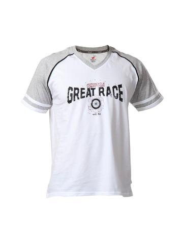 Hanes Men White T-shirt