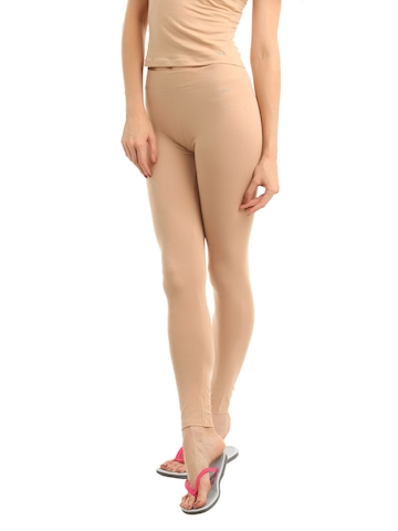 Hanes Women Nude ComfortSoft Waistband Cotton Stretch Full Leggings