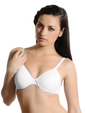 Hanes Women White Concealing Petals Underwire Moulded Bra