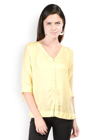 Hapuka Women Yellow Shirt at myntra