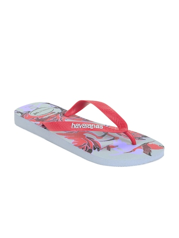 Havaianas Men Grey & Red Flip Flops