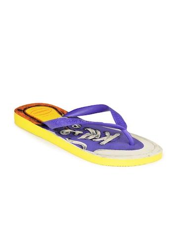 Havaianas Men Yellow & Purple Flip Flops