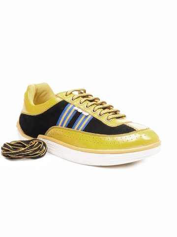 ID Men Yellow & Black Casual Shoes