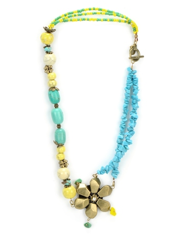 Ivory Tag Women Petal Sheen Multocolour Necklace