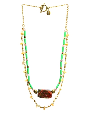 Ivory Tag Women Placid Pastel  Green Necklace