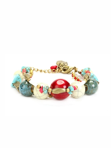Ivory Tag Women Rock Array Blue and Red Jewellery Set