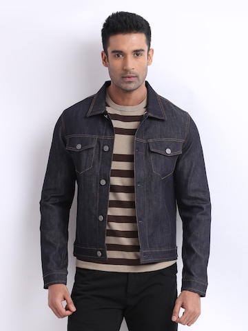 Jack & Jones Men Blue Denim Jacket
