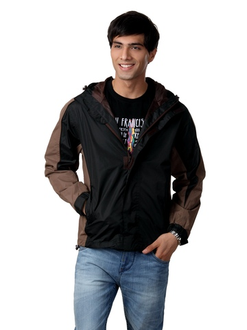 Just Natural Men Black Rain Jacket