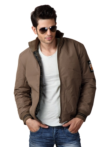 Just Natural Men Brown Reversible Jacket