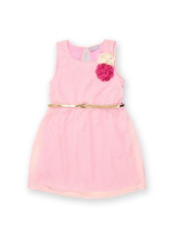 Kami Girls Light Pink Fit & Flare Dress