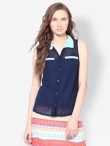 Kaxiaa Women Blue Shirt